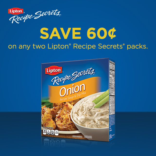 Save 60 cents on Lipton Recipe Secrets at Walmart