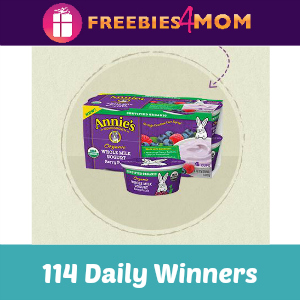 Annie's Yogurt Sweeps (114 Daily Winners)