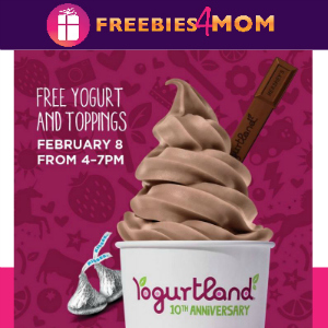 Free Frozen Yogurt at Yogurtland Feb. 8