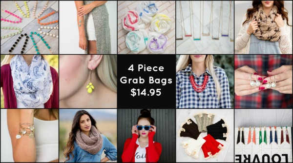 4 Piece Accessory Grab Bag $14.95