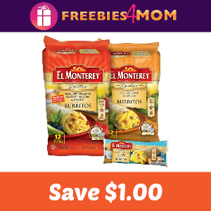Save $1.00 on El Monterey Breakfast Burritos