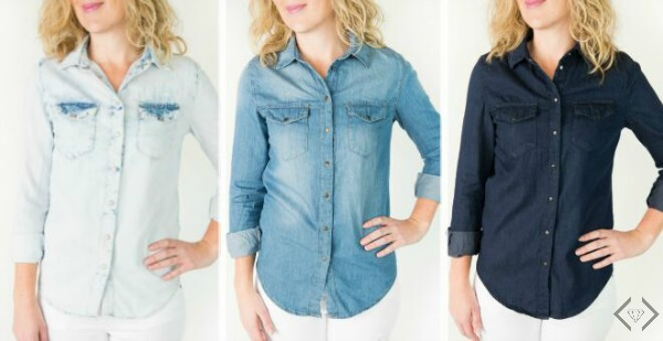 Spring Chambray Tops $19.95