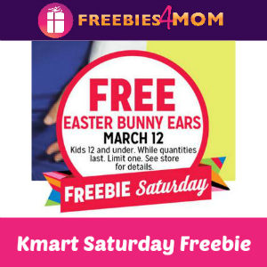Free Easter Bunny Ears at Kmart Saturday