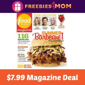 Magazine Deal: Food Network $7.99