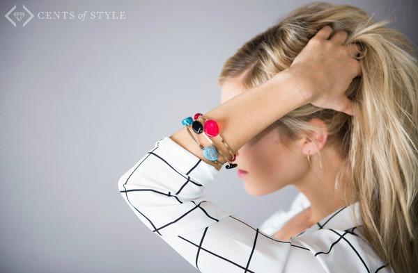 Semi-Precious Stone Stacking Bracelets $5.95