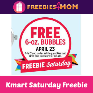 Free Bubbles at Kmart April 23