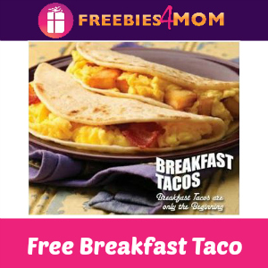 Free Breakfast Taco at Taco Cabana