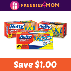 Coupon: Save $1 on Hefty Trash Bags