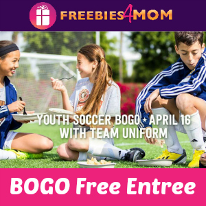 Chipotle BOGO Free for Youth Soccer Players