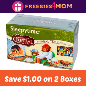 Coupon Save $1 on 2 Boxes of Celestial Tea