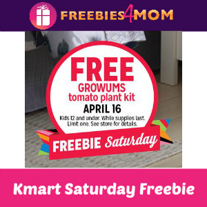 Free Kids Tomato Plant Kit at Kmart 4/16