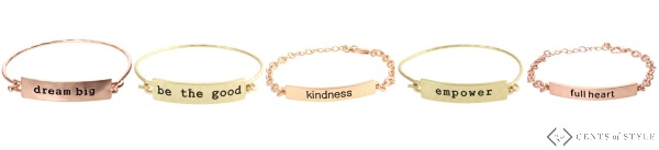 $10.95 Teacher Appreciation Bracelets + Free Apple Notebook