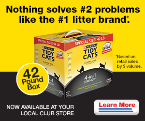 Tidy Cats cat litter now available at Costco