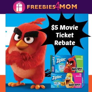 Rebate: $5 off Angry Birds Movie Ticket