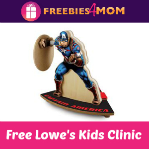 Free Captain America Kids Clinic at Lowe's June 11