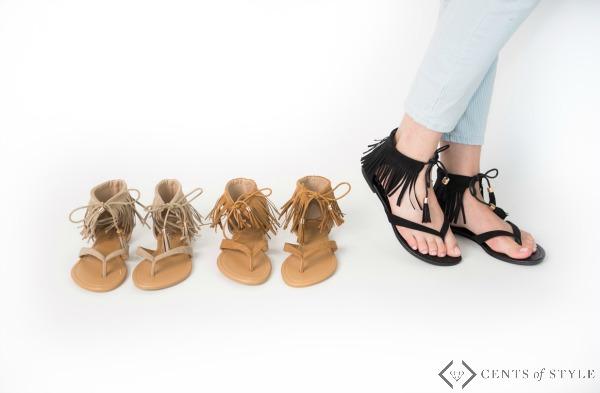 $17.95 Fringe Sandals + Free Shipping