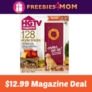 Magazine Deal: HGTV $12.99 (thru Sept 18)