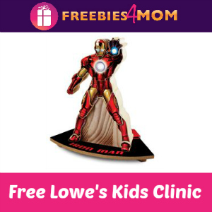 Free Iron Man Kids Clinic at Lowe's June 25