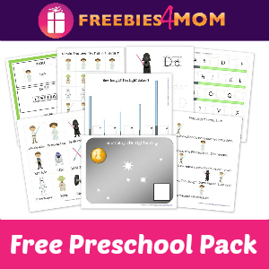 Free Star Wars Preschool Pack