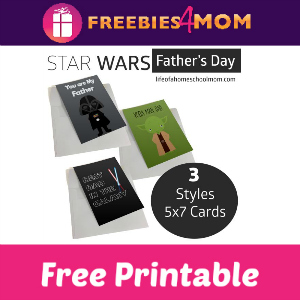 Free Star Wars Printable Father's Day Cards