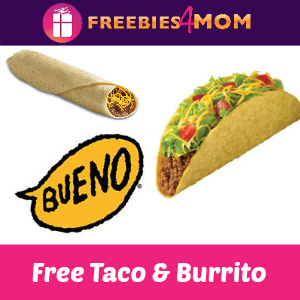 Free Crispy Taco & Bean Burrito at Taco Bueno