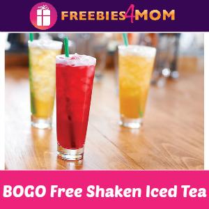 BOGO Free Teavana Shaken Iced Tea at Starbucks
