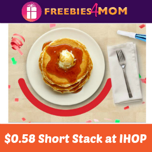 $0.58 Short Stack at IHOP July 12