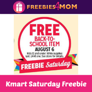 Free Back-to-School Item at Kmart Aug. 6