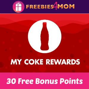 Free 30 My Coke Rewards Bonus Points
