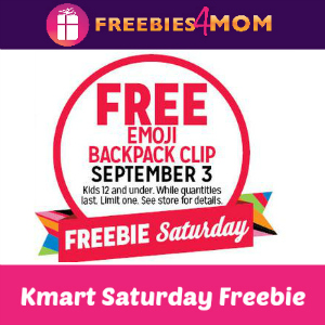 Free Emoji Backpack Clip at Kmart Sept. 3