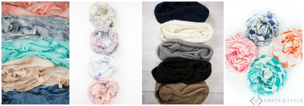 6 Piece Scarf Grab Bag $19.99