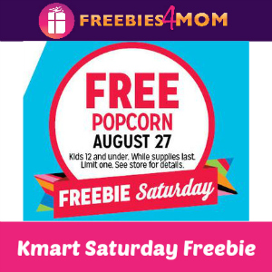 Free Popcorn at Kmart Aug. 27