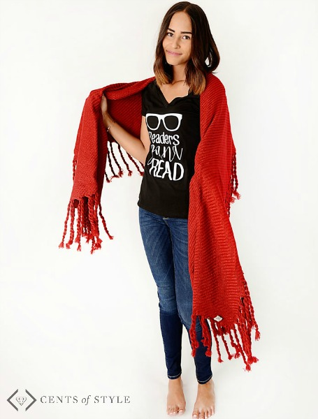 Book Tees & Blanket Scarves 50% Off