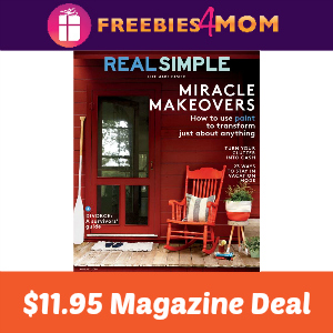 Magazine Deal: Real Simple $11.95