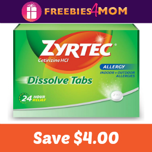 Coupon: $4.00 off one Zyrtec