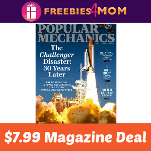 Magazine Deal: Popular Mechanics $7.99