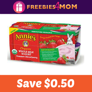 $0.50 off Annie's Organic Yogurt Tubes or Cups