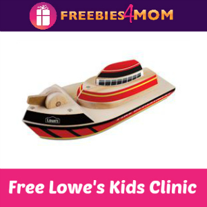 Free Fire Boat Kids Clinic at Lowe's Sept. 24
