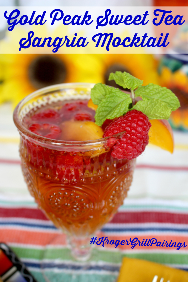 Gold Peak Sweet Tea Sangria Mocktail paired with Soy Vay® Veri Veri Teriyaki® Grilled Chicken