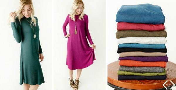 $21.95 Long Sleeve Swing Dress