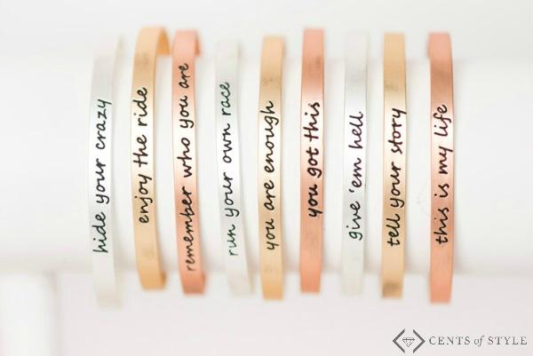 Script Cuff Tribe Bracelets $11.95