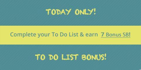 Earn Swagbucks Bonus with Wednesday's Big To Do List