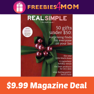 Magazine Deal: Real Simple $9.99