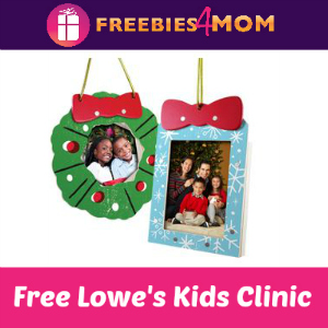 Free Christmas Ornaments Kids Clinic at Lowe's
