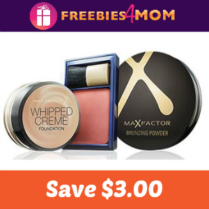 Coupon: $3.00 off one MAX Factor
