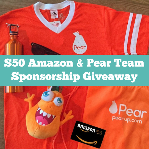 $50 Amazon & Pear Team Sponsorship Giveaway Winner