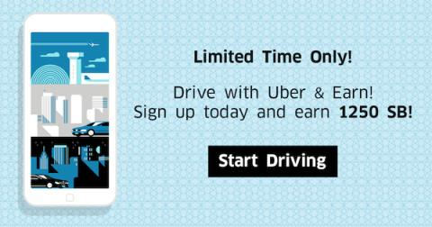 Drive with Uber, Earn over $90 in Gift Cards