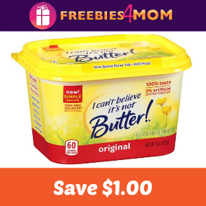 Coupon: $1.00 off I Cant Believe Its Not Butter
