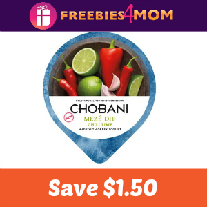 Coupon: $1.50 off one Chobani Meze Dip