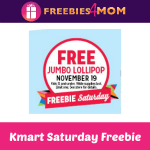 Free Jumbo Lollipop at Kmart